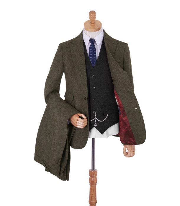 Men's Vintage Style Suits, Classic Suits Made In Britain Arthur Tweed Suit £415.83 AT vintagedancer.com