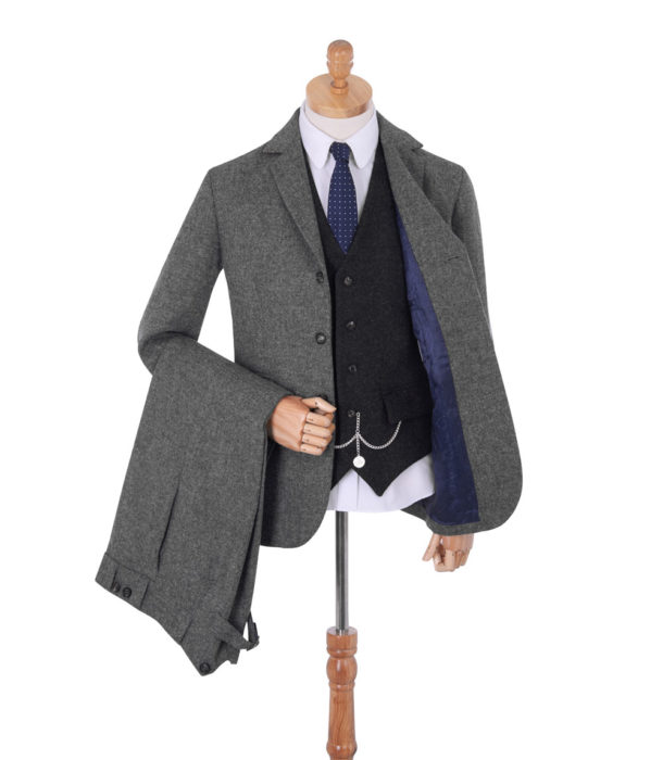 Men's Vintage Style Suits, Classic Suits Made In Britain Thomas Tweed Suit £425.00 AT vintagedancer.com